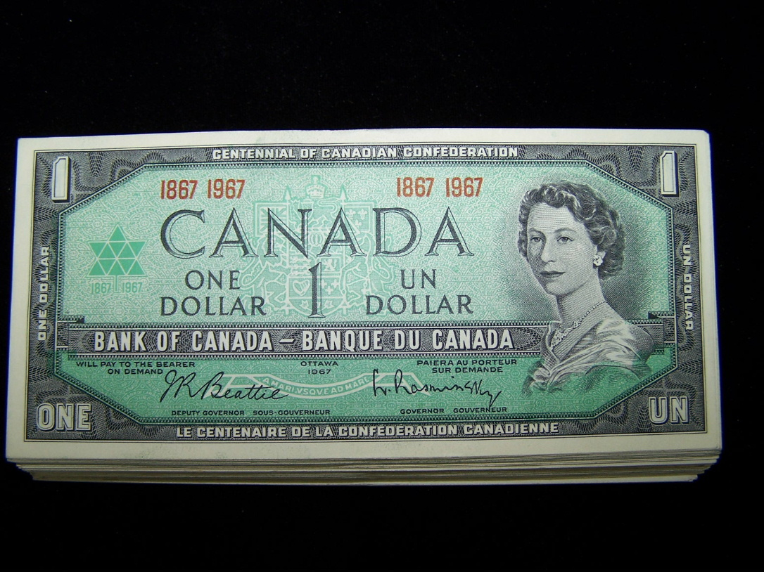 BANK OF CANADA 1973 $1 NOTES BC-46b   NiceAU to UNC 10 PCS LOT